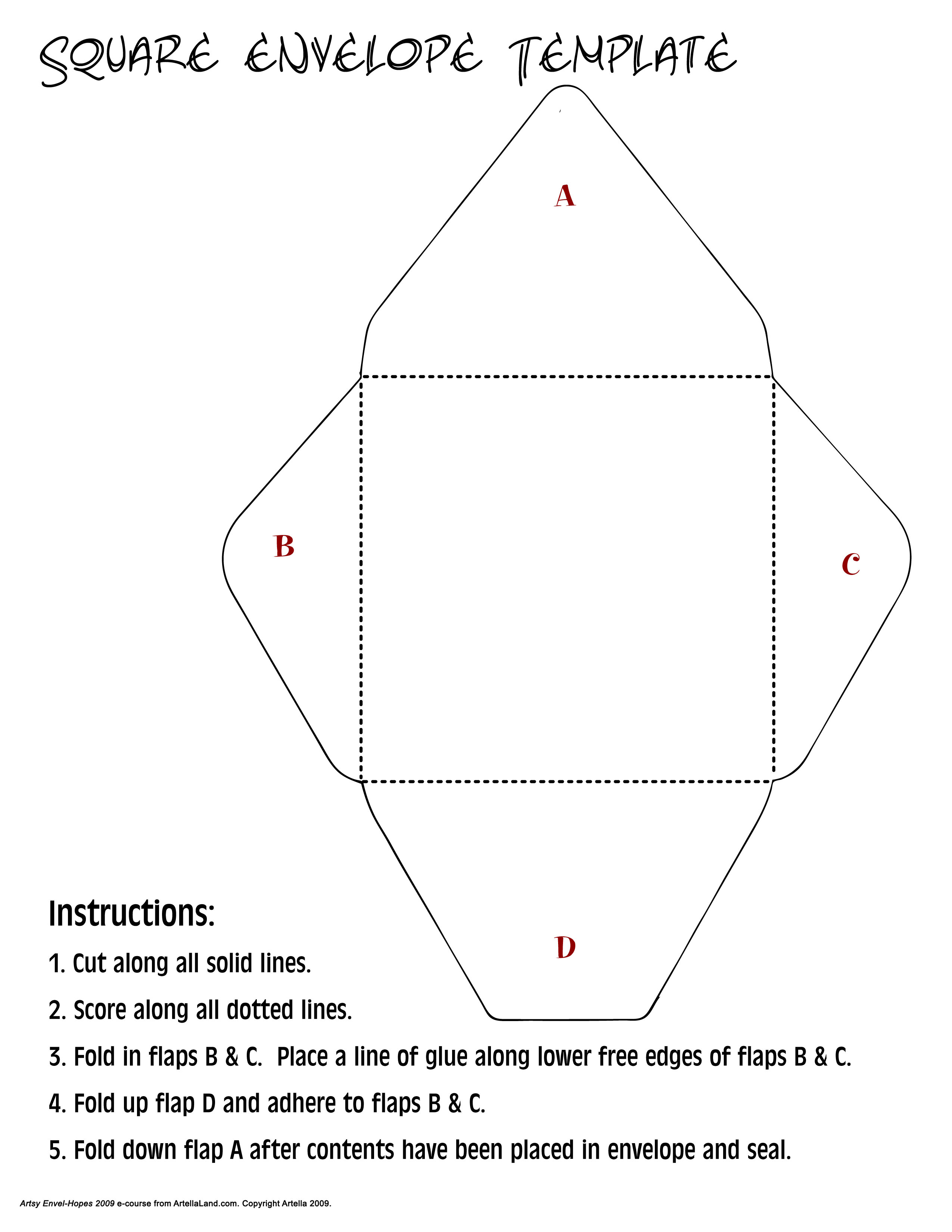 Square Pocketfold Template images